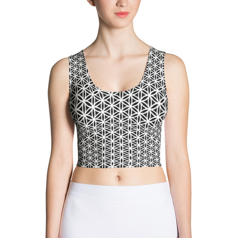 Emergence of Tranquility Sublimation Crop Top-Flower of Living