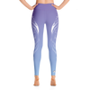 Icy Sky Wolf High Waist Yoga Pants - Flower of Living