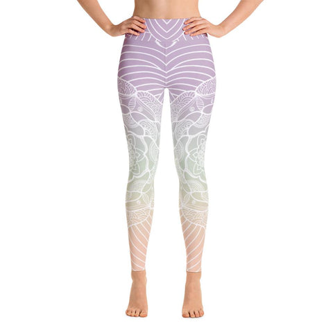 Reflection Lagoon Mandala High Waist Yoga Pants-Flower of Living