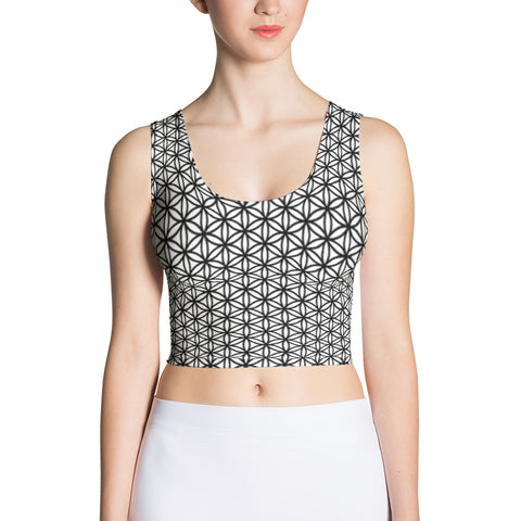 Emergence of Energy Sublimation Crop Top-Flower of Living