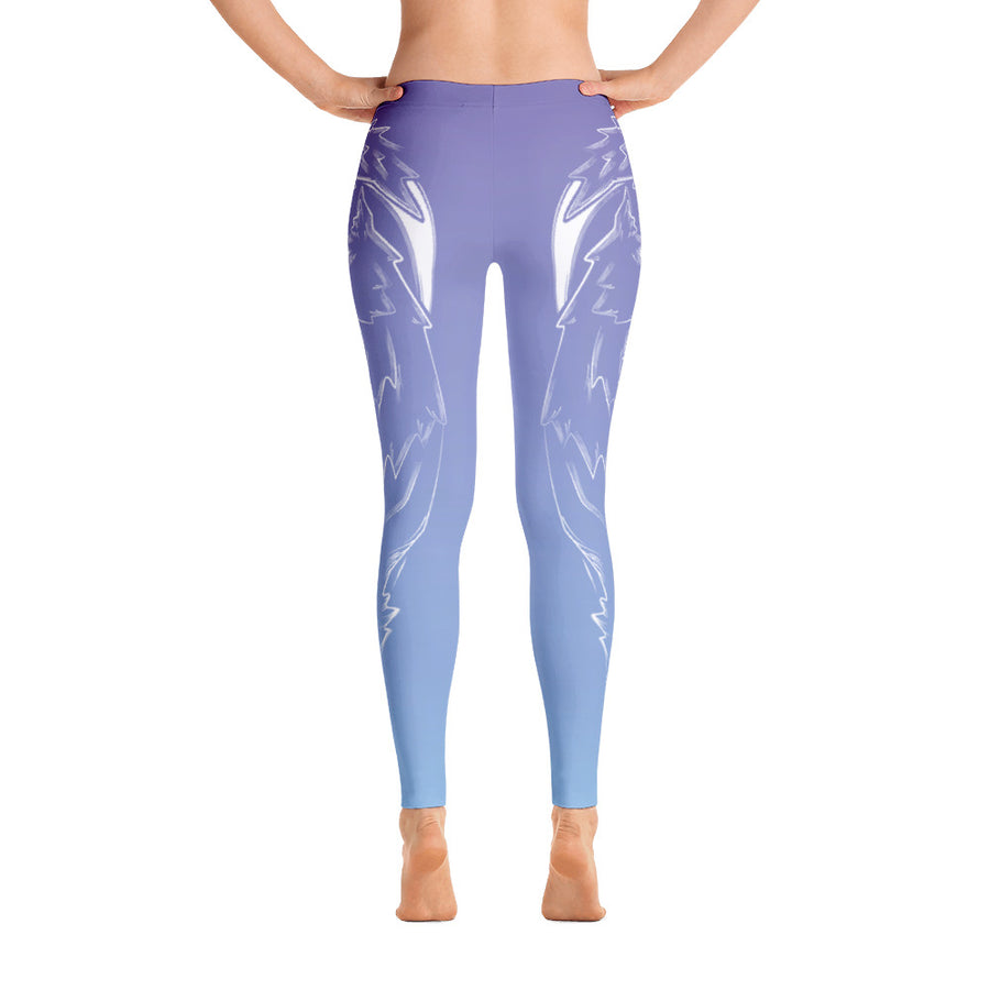 Icy Sky Wolf Yoga Pants - Flower of Living