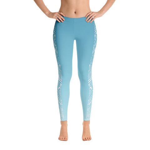 Blue Skye Mandala Stripe Yoga Pants-Flower of Living