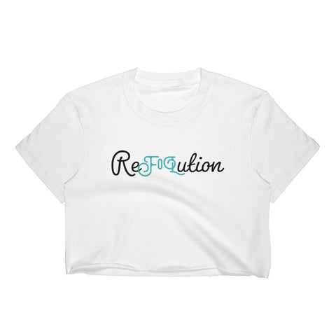 Ambassador Only - White ReFoLution Crop Top-Flower of Living