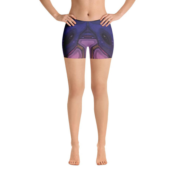 Stellar Koi Yoga Shorts-Flower of Living