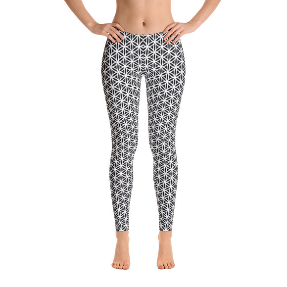 Emergence of Tranquility Yoga Pants-Flower of Living