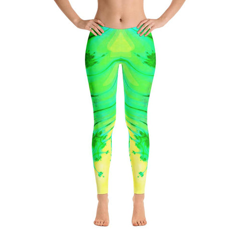 Spring Vine Yoga Pants-Flower of Living
