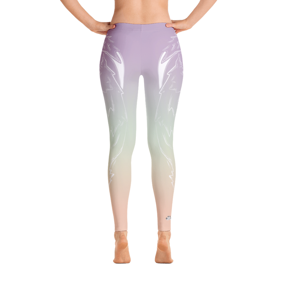 Reflection Lagoon Wolf Yoga Pants - Flower of Living