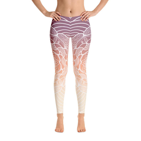Heavenly Skies Mandala Yoga Pants-Flower of Living