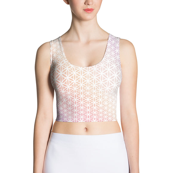 Beautiful Dream Sublimation Crop Top-Flower of Living
