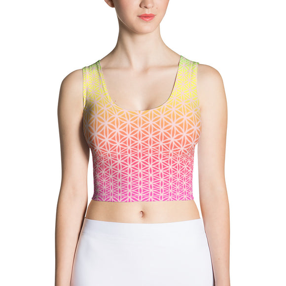Happiness Sublimation Crop Top-Flower of Living