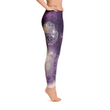 Amethyst Sharad Mandala Yoga Pants-Flower of Living