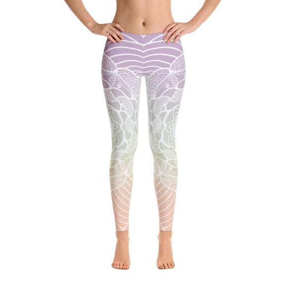 Reflection Lagoon Mandala Yoga Pants-Flower of Living