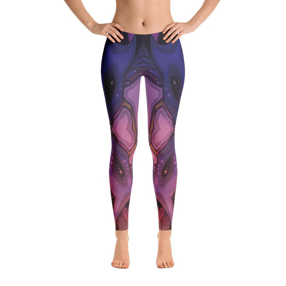 Stellar Koi Yoga Pants-Flower of Living