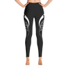 Black Deer High Waist Yoga Pants - Flower of Living