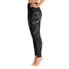 Black Wolf High Waist Yoga Pants - Flower of Living
