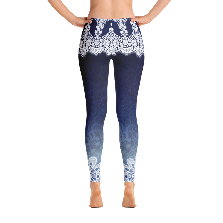 Ambassador Only - Blue Lace Yoga Pants - Flower of Living