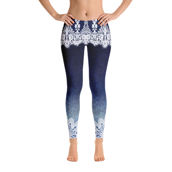 Azul Elegant Lace Yoga Pants-Flower of Living
