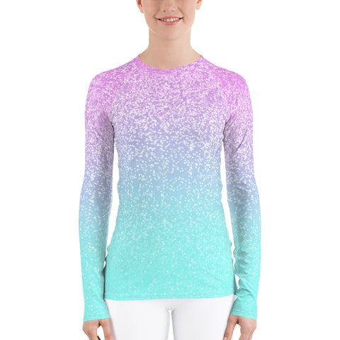 Berry Confetti Women's Rash Guard-Flower of Living