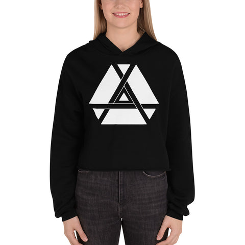 Minimalist Inner Triangle Crop Hoodie-Flower of Living