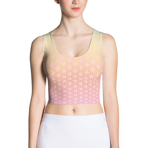 Morning Light Sublimation Crop Top-Flower of Living