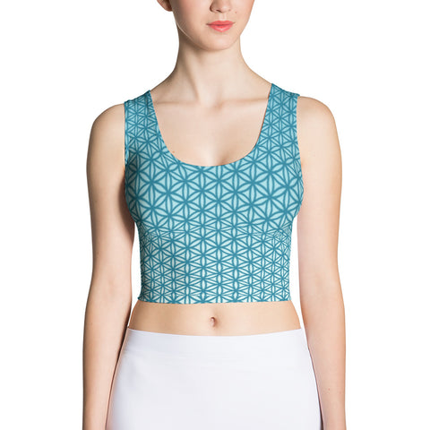 Water Sprite Sublimation Crop Top-Flower of Living