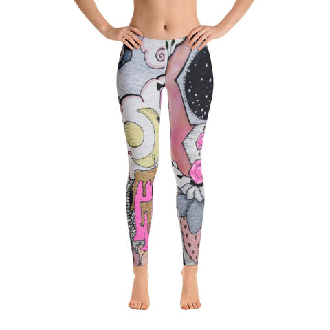 Witch Berry Yoga Pants-Flower of Living
