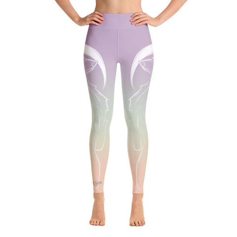 Bear Spirit Animal High Waist Yoga Pants-Flower of Living