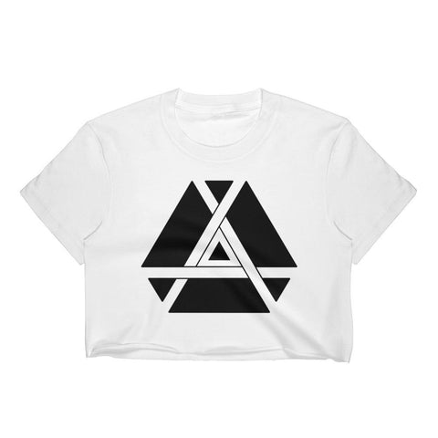 Minimalist Inner Triangle Crop Top-Flower of Living