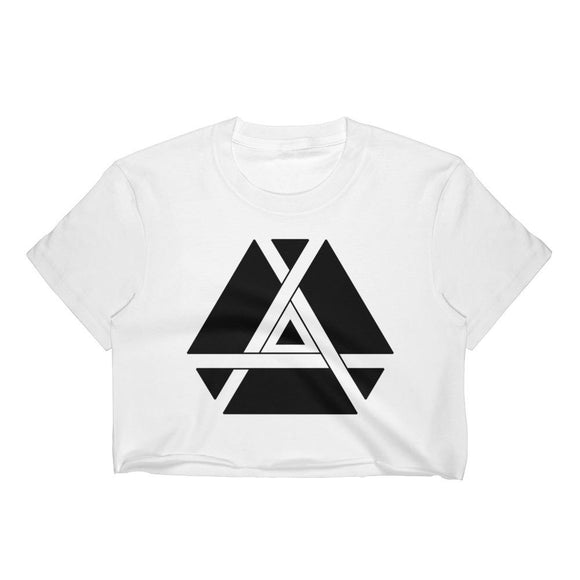 Inner Triangle Crop Top-Flower of Living
