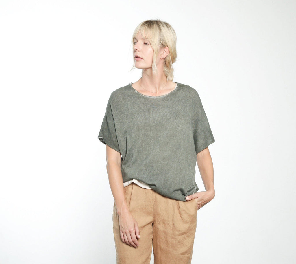 Short Sleeve Boxy Sweater