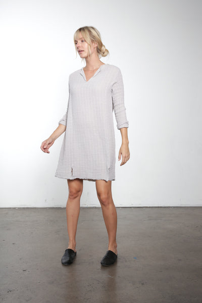 Gauze Split Neck Dress