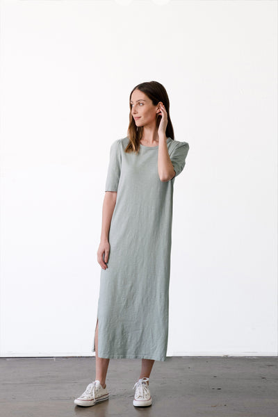Puff Sleeve T-Shirt Dress
