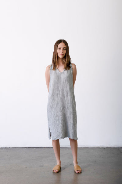 Sleeveless V-neck Gauze Dress