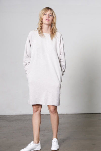 Raw Edge Pocket Dress