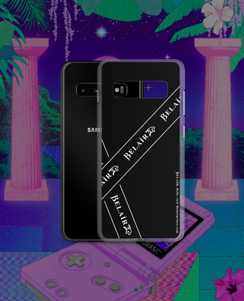 """Bandeau"" Black Samsung Case - All models - belairprince.com tomorrow streatwear - unisex hoodies joggers tshirts vest jackets tops bottoms & accessories"