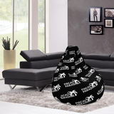 Drip Bean Bag w/ filling - Black - Belairprince.com Tomorrow Watches & Apparel