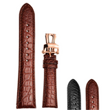 Deluxe Alligator Leather Strap - 22 mm - Belairprince.com Tomorrow Swiss Watches