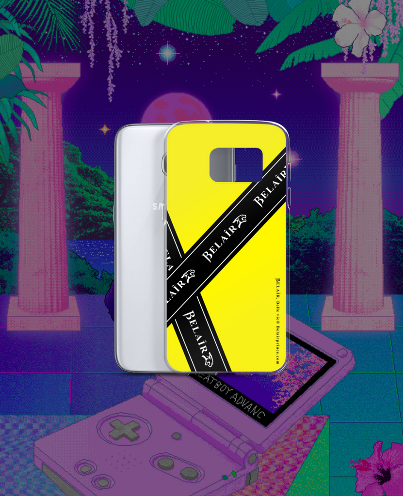 """Bandeau"" Yellow Samsung Case - All models - belairprince.com tomorrow streatwear - unisex hoodies joggers tshirts vest jackets tops bottoms & accessories"