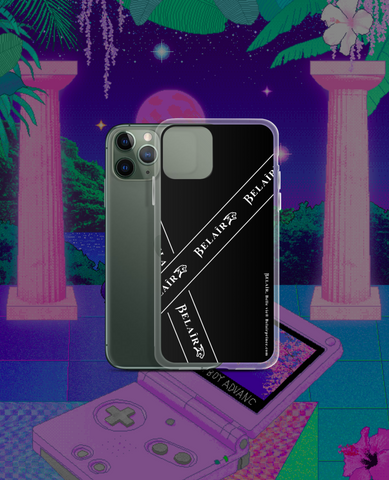 """Bandeau"" Black iPhone Case - All models - belairprince.com tomorrow streatwear - unisex hoodies joggers tshirts vest jackets tops bottoms & accessories"