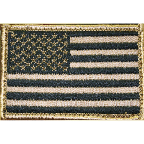 Bh American Flag Patch H&l Tan-blk