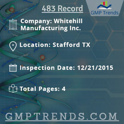Whitehill Manufacturing Inc.