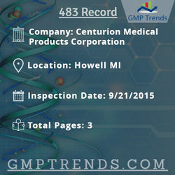 Centurion Medical Products Corporation