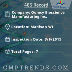 Quincy Bioscience Manufacturing Inc.