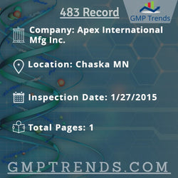 Apex International Mfg Inc.
