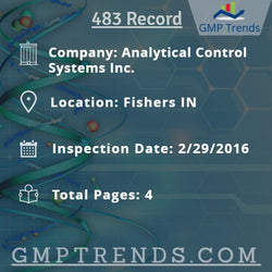Analytical Control Systems Inc.