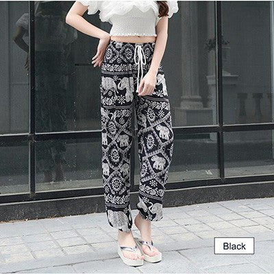 Apparel - Bagheera - Bohemian Floral Elephant Lounge Pants - FREE SHIPPING