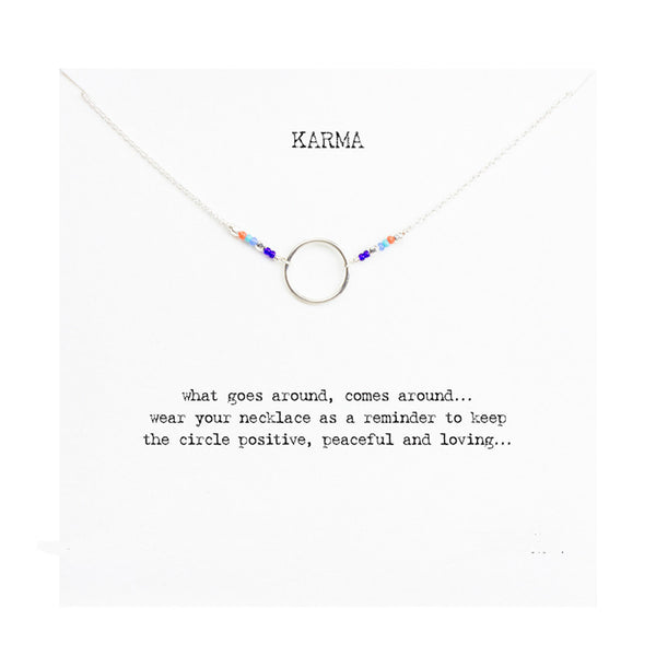"Jewelry - Limited Edition ""Karma"" Gold Or Silver Necklace With Bohemian Beads - FREE SHIPPING"