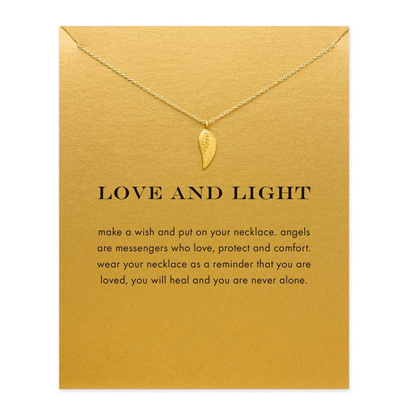 "Jewelry - Limited Edition ""Love And Light"" Angel Wing Gold Necklace - FREE SHIPPING"