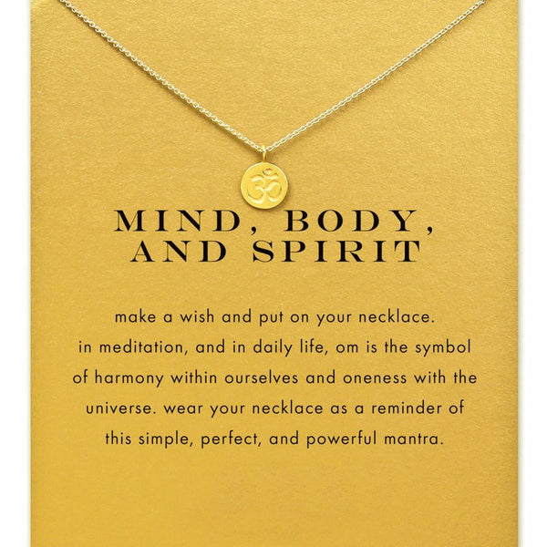 "Jewelry - Limited Edition ""Mind, Body, Spirit"" Gold Om Necklace - FREE SHIPPING"