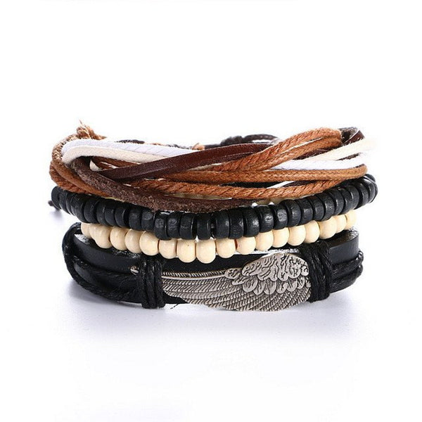 Jewelry - Rager - Stacked Leather Bracelet (UNISEX) - FREE SHIPPING